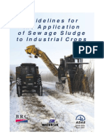 Guidelines for the Application of Sewage Sludge to Industrial Crops