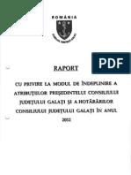 Raportul Presedintelui CJ Romania