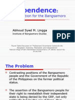 Independence - Political Option for the Bangsamoro