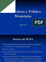 Agregados Monetarios e instrumentos de política