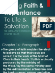 Faith & Repentance - 1689 Chapter 14 & 15 - 05122013 - Part 1 of 2