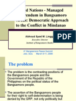 United Nations - Managed Referendum in Bangsamoro Areas