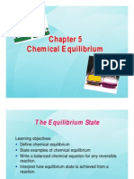 Chapter 5 Chemical Equilibrium