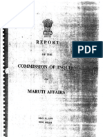 Report of A C Gupta Commission of Inquiry on Maruti Affairs 31/05/1979