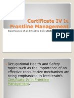 Certificate IV in Frontline Management-Significance of an Effective Consultative Mechanism