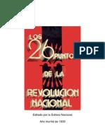 Los 26 puntos de la Revolución Nacional