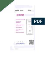 SHS-2920 en Manual