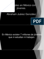 Desempleo en México con  jóvenes