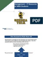 MBA Com It Resources