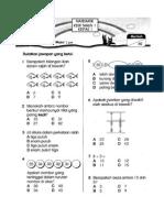 Kertas Soalan Matematik Tahun 1