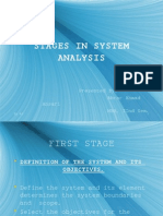 Stages in System Analysis