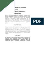 Reglamento de Ley Ac Gub 223 2005