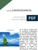 ciclos Biogeoquímicos del agua y carbono