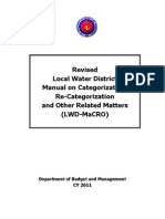 Revised Local Water District Manual MaCRO