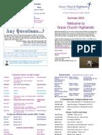 Term Card - Summer 2013