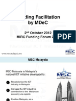 Funding Facilitations by MDEC