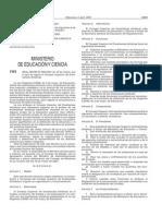 RD 365_2007 Consejo Superior de Enseñanzas Artísticas