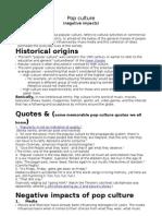 Pop Culture Factsheet