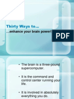 30 Ways to Enhance Brain Power