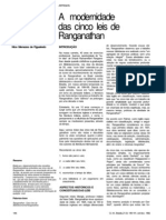 A Modernidade Das Cinco Leis de Ranganathan FIGUEIREDO