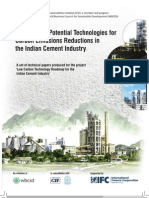 Existing and Potential Technologies for Carbon Emissions Reductions in the Indian Cement Industry