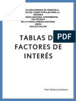 Tablas de Factores de Interes 0.25 Al 10
