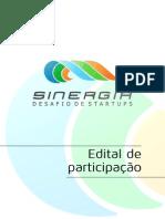 Edital de participação - Sinergia
