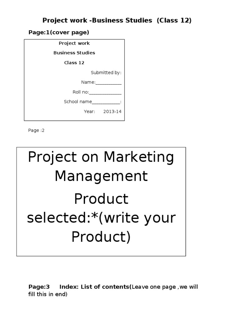 Download Class 12th Accounts Project Front Page Livinman