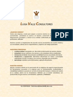 Portafolio de Servicios Luisa Valle Consultores 2013