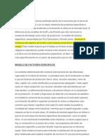 EL MODELO DE FACTORES ESPECíFICOS Y DISTRIBUCIóN DE LA RENTA