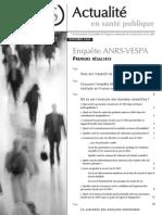 Brochure Actualite Sante Publique 1ersResultats Enquete ANRS-VESPA