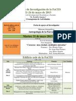 PROGRAMA. VII Jornadas de Investigacion. 2013