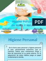 Higiene personal en niños y niñas.