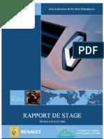 Rapport de Stage Chez Renault