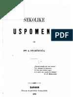 Ante Starčević - Nekolike uspomene