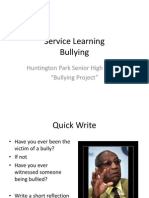 bullying project day 1 advisory edition