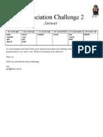Pronunciation Challenge 002 Answer