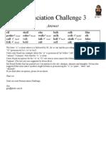 Pronunciation Challenge 003 Answer
