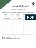 Pronunciation Challenge 005