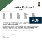 Pronunciation Challenge 006 Answer