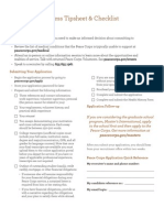 Peace Corps Applicant Tip Sheet