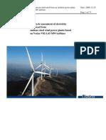 LCA V82-1.65 MW Onshore