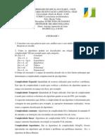 Atividade 1 Estrutura de Dados Antonio de Lima