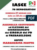 Manifesto Nascita Circolo del PD di Trebaseleghe