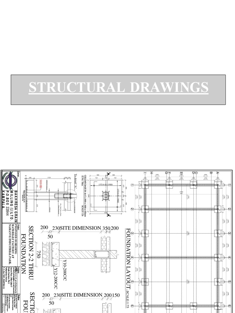 STRUCTURAL DRAWINGS pdf | Structural Steel | Concrete