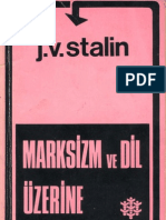 Stalin Marksizm Ve Dil Uzerine