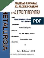 PROPIEDADES FÍSICO QUÍMICAS DEL ALCOHOL
