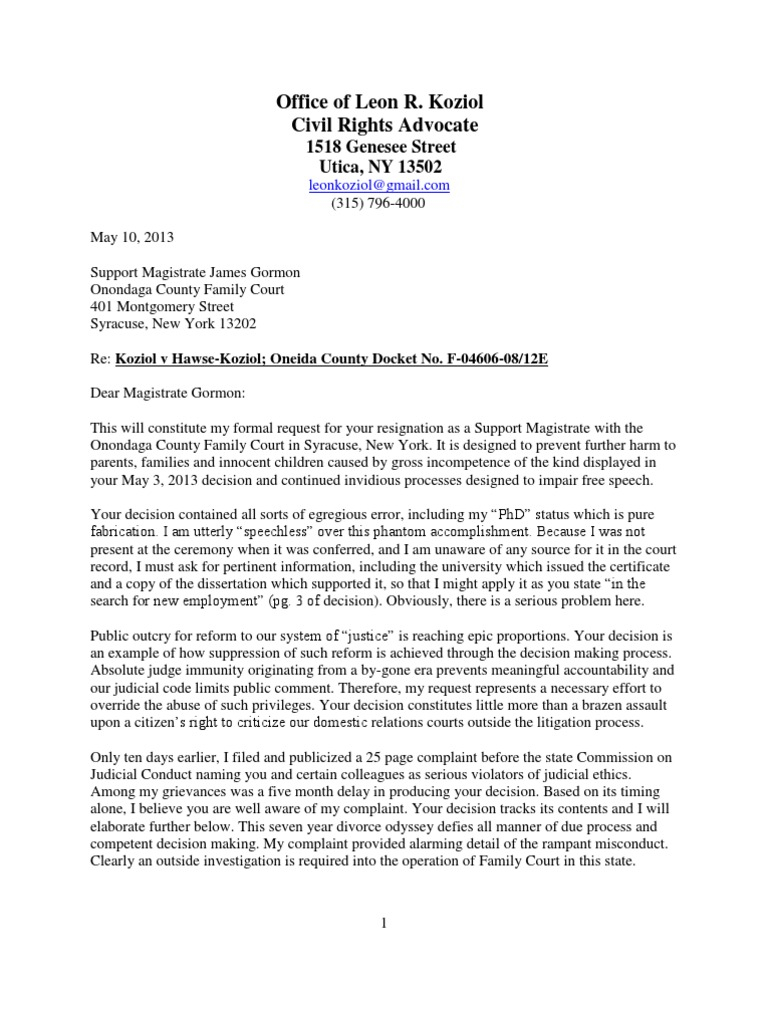 James Gorman Resignation Request | Lawsuit | Lawyer