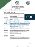 Iraq Biotechnology Conference May 7 -9 Agenda ENGLISH