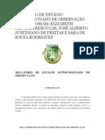 RELATÓRIO DE ESTÁGIO SUPERVISIONADO DE OBSERVAÇÃO DOS ALUNOS